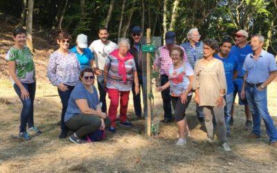 12 septembre 2020 | Parrainage et plantation d'un arbre par la Confrérie des Amis de la Châtaigne de Fully | Merci à eux pour leur soutien et leur visite !